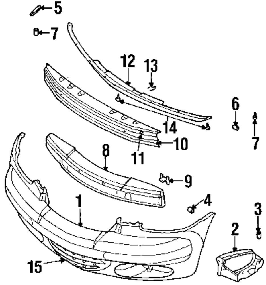 Genuine chrysler hole cover clip chr 6036179aa