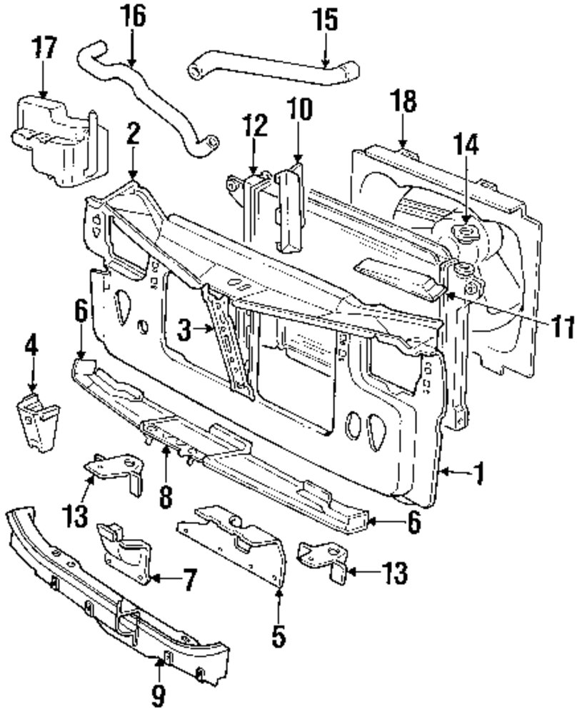 Genuine dodge radiator support dod 4440579