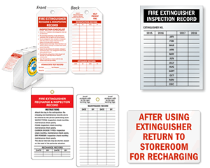 Fire Extinguisher Recharge Tags