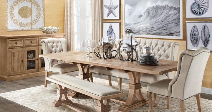 Stylish Home Decor   Chic Furniture At Affordable Prices   Z Gallerie Coastal Archer Dining Room Inspiration