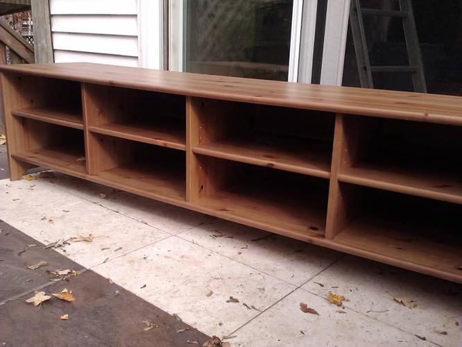 Ikea Leksvik Series Antique Stain Storage Tv Bench For