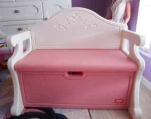 Little Tikes Pink Victorian Toy Box Bench North Port