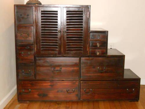 Dark Wood Wardrobe Drawers