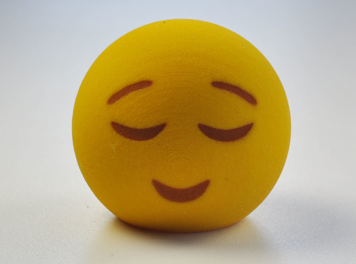 3D Emoji Smiling with Eyes Closed (6CSF2SBKW) by MakeMode