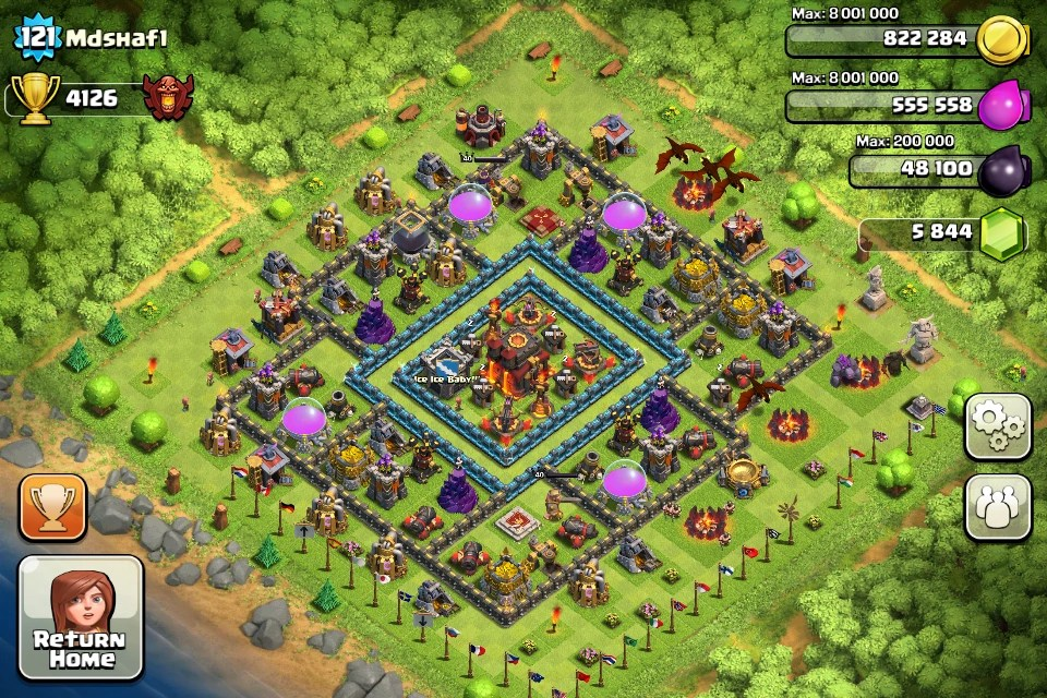Best Base Town Hall Tesla Hidden Clash 7 No Clans