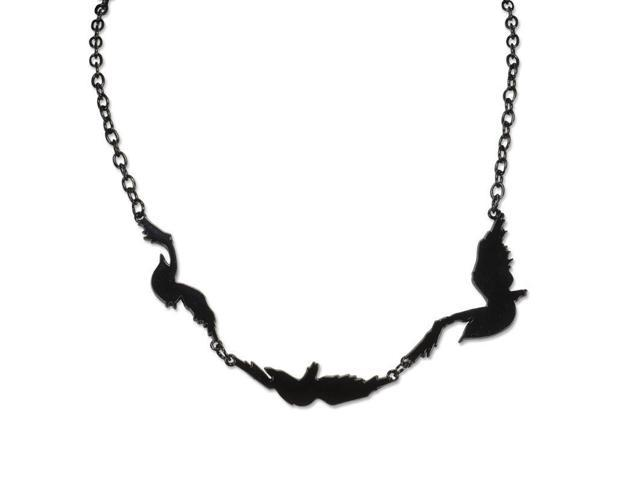 Divergent Tris' Ravens Tattoo Single Bird Chain Necklace ...