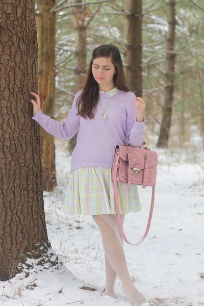 Girls Sweater Dress Purple