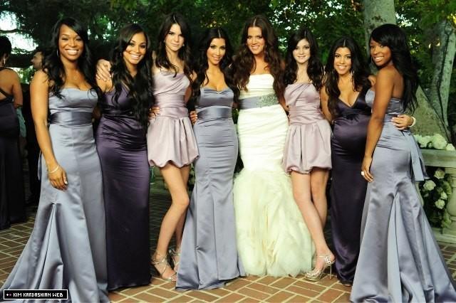 Khloe Bridesmaid Gowns Kardashian