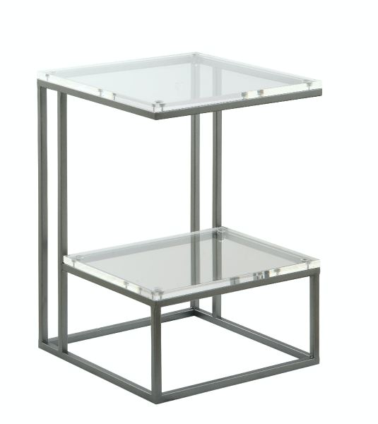 Living Room Micah Metal   Acrylic Shelf Accent Table Micah Metal   Acrylic Shelf Accent Table ST 487779