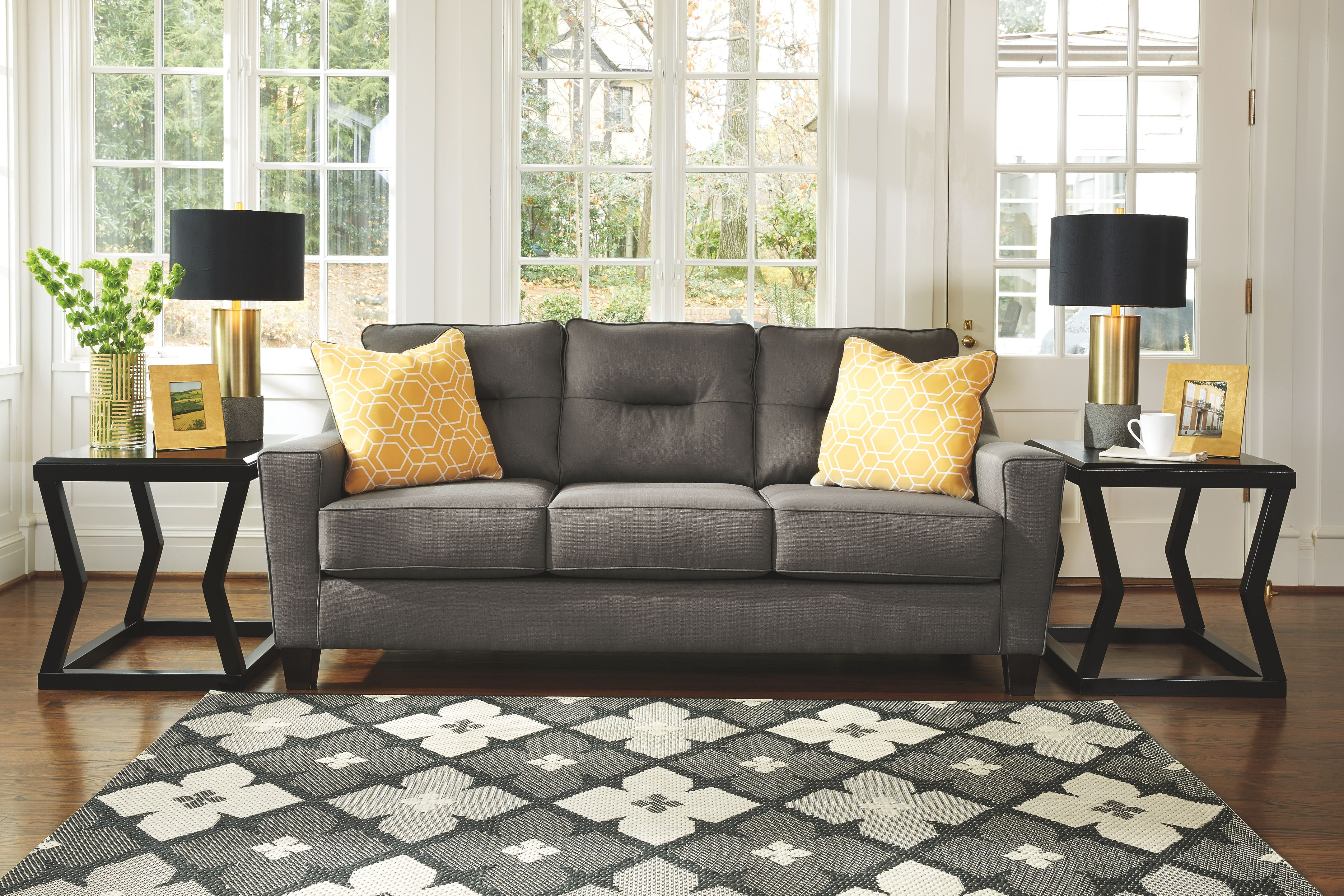 Signature Design by Ashley Living Room Sofa    Nouvella Grey     Signature Design by Ashley Sofa    Nouvella Grey  6690238