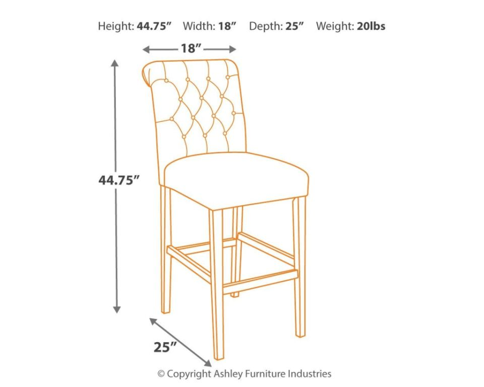 Signature Design By Ashley Bar And Game Room Tripton Bar Height Bar Stool D530 230 Hickory