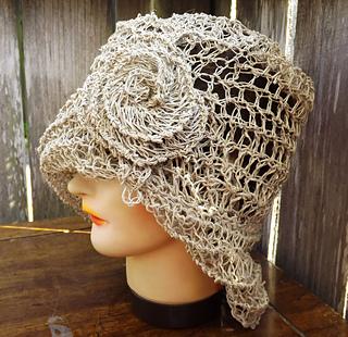 Ravelry Ombretta Cloche Hat With Flower In Hemp Cord