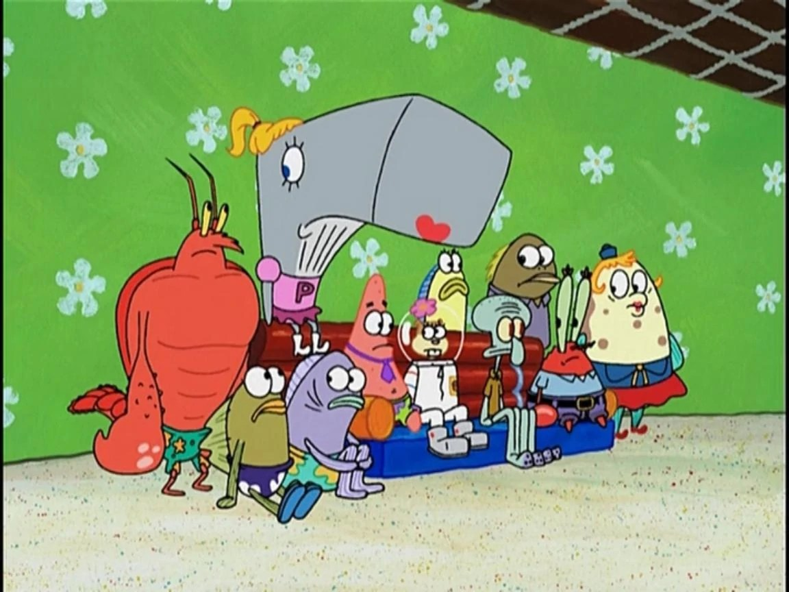 Spongebob Patrick Squidward Mr Krabs Ms Puff Sandy Gary Karen Mermaid Man And Barnacle B