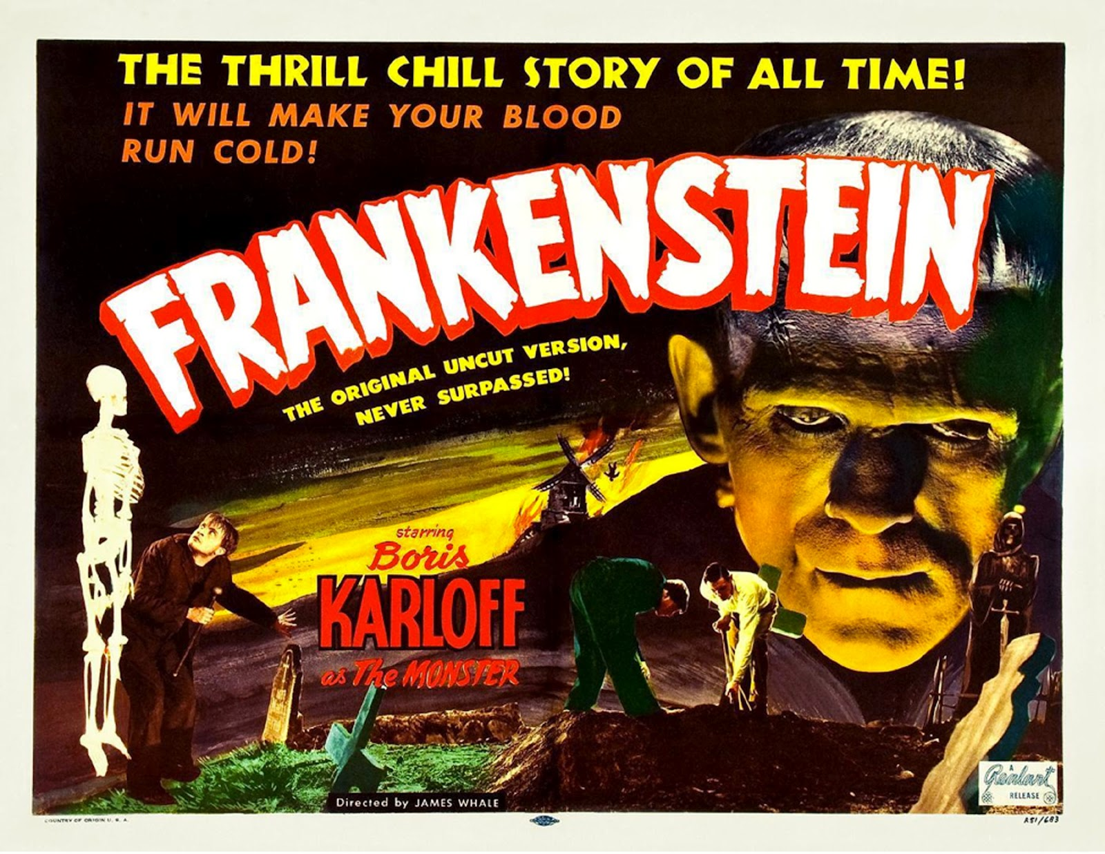 frankenstein 1931 poster Wallpaper and Background Image ...