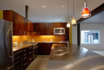 placement of pendant lights over kitchen island # 7