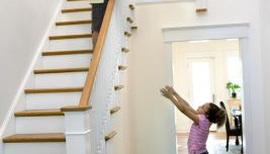 How To Drill For Stair Railing Spindles   Stair Posts And Spindles   Landing   Natural Hardwood   Rectangular   Traditional   Wood