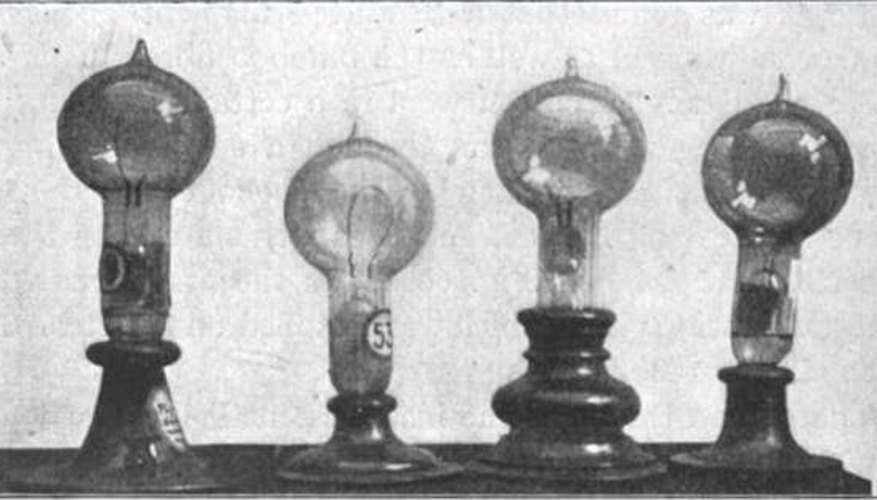 Thomas Edisons Light Bulb Parts