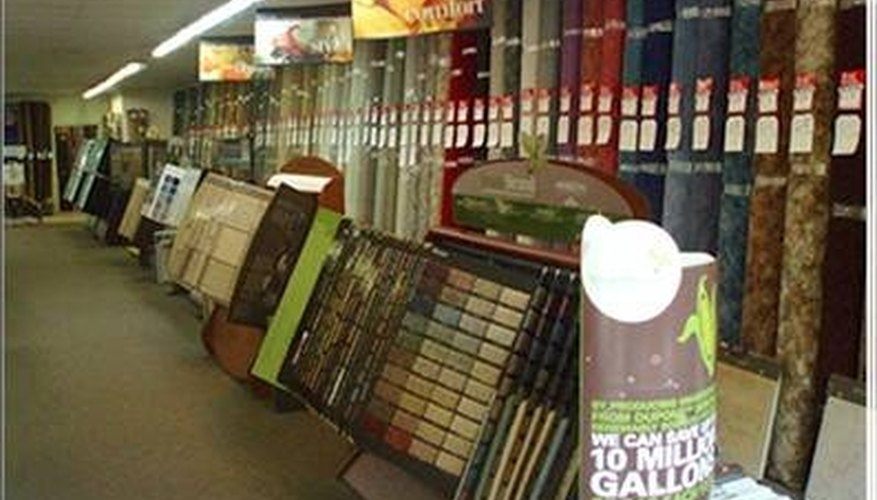 How to Become a Carpet Retailer   Bizfluent Give customers plenty of choices at your carpet store