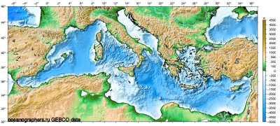 Средиземное море, глубины - iv_g