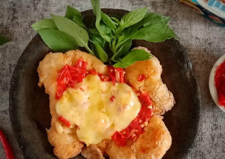 Resep Ayam Geprek mozarella