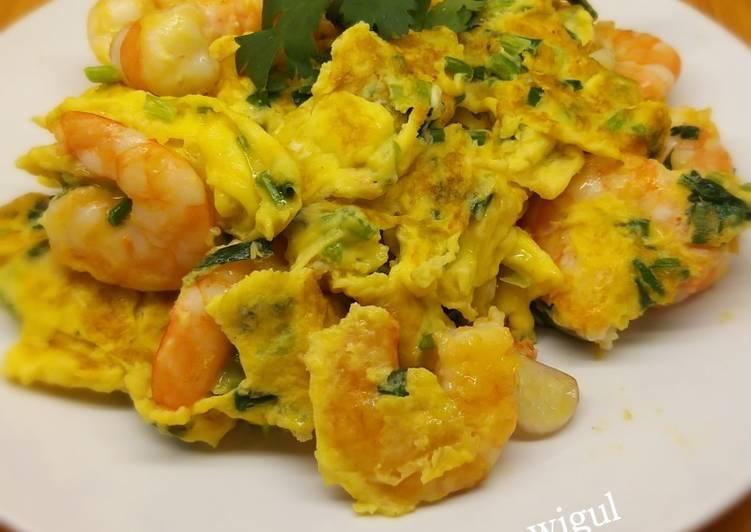 Resep 03.Udang goreng telur