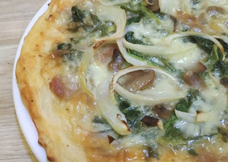 Resep Mushroom Kale Pizza