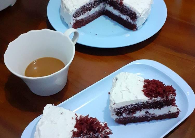 Resep Eggless Red Velvet Cake