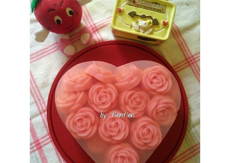 Resep 1Love Pink Rose Puding