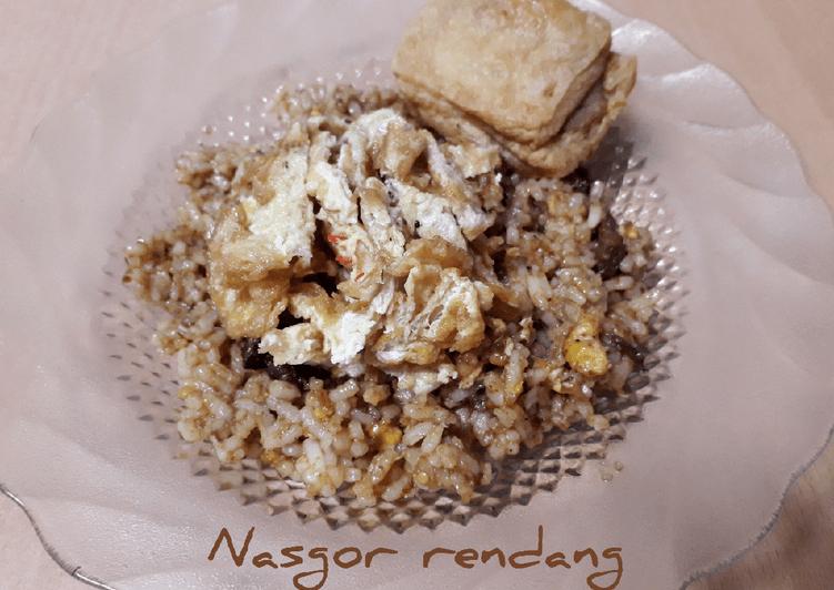 Resep Nasgor rendang