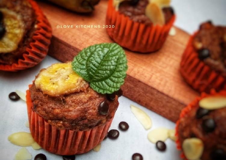 Resep Muffin pisang gula palem -- no mixer--