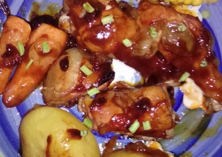Resep Ayam Panggang Saus Kecap Inggris