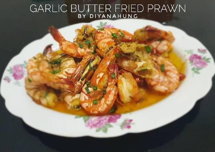 Resep Garlic Butter Fried Prawn