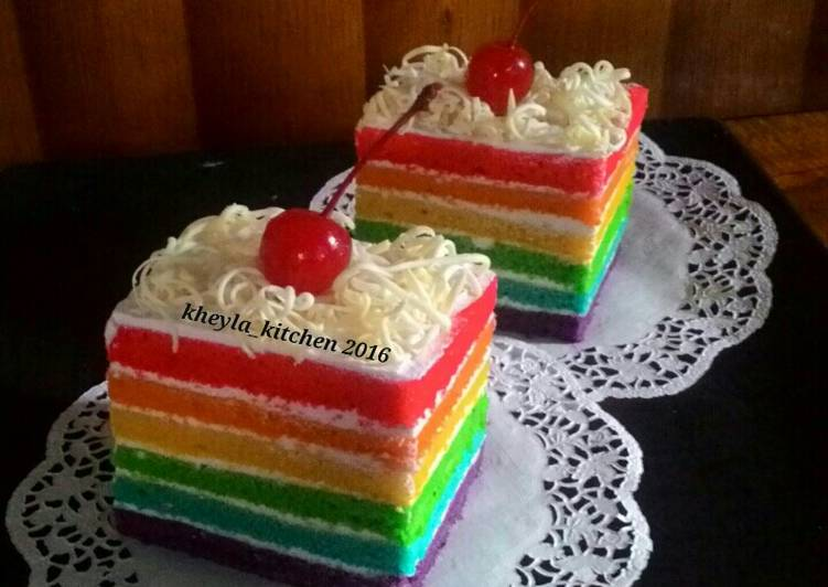 Resep Rainbow Cake Kukus Ny.Liem Super Lembut
