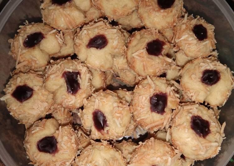 Resep Bluberry Thumbprint cookies