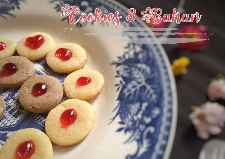 Resep Cookies 3 bahan Ekonomis Tanpa Telur Tanpa Oven Tanpa Mixer