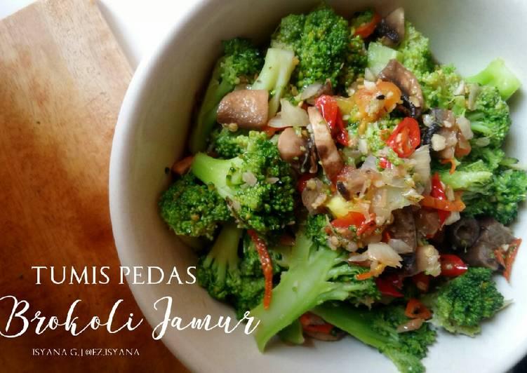 Resep Tumis Pedas Brokoli Jamur