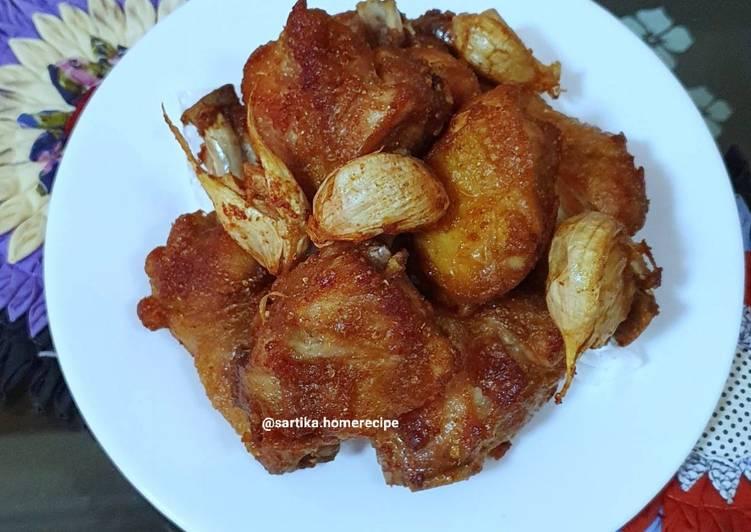 Resep Ayam goreng bawang Putih ala me