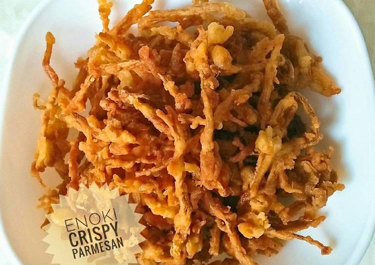 Resep Enoki Crispy Parmesan