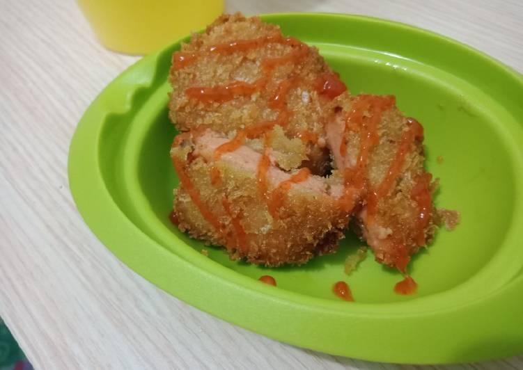 Resep Kornet ayam Dan Udang tempura mudah