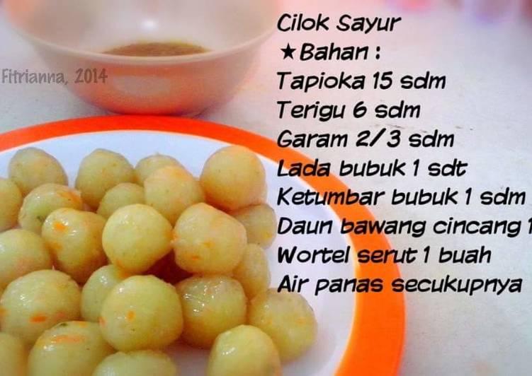 Resep Cilok Sayur