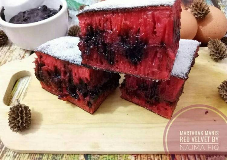 Resep Martabak manis red velvet (#Pr_kuetradisionalberserat)