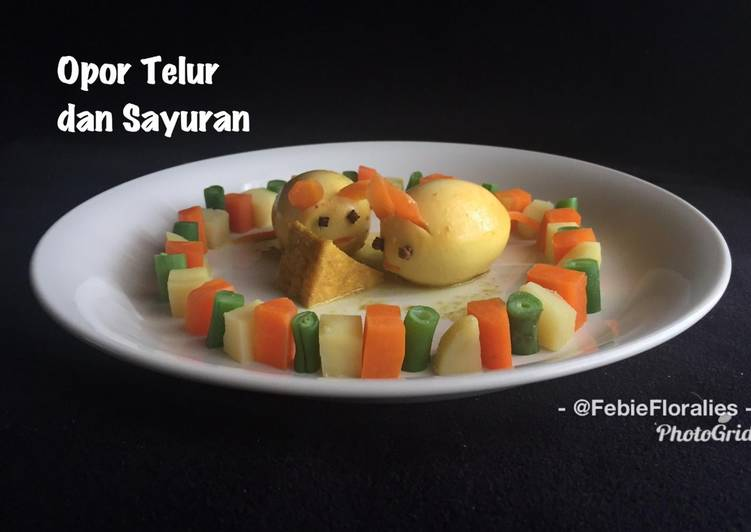 Resep Opor Telur dan Sayuran