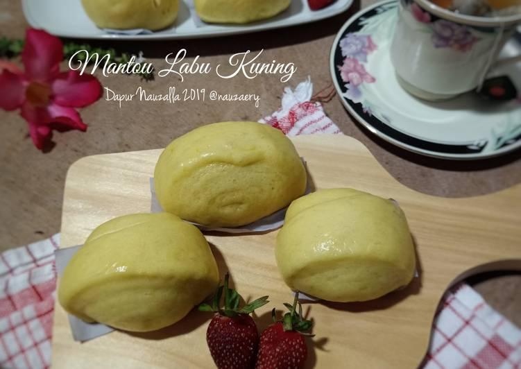 Resep Mantou Labu Kuning (Pumpkin Mantou)