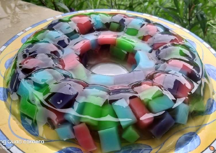 Resep Puding kaca warna warni