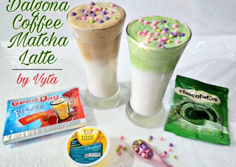 Resep Dalgona Coffee Matcha Latte