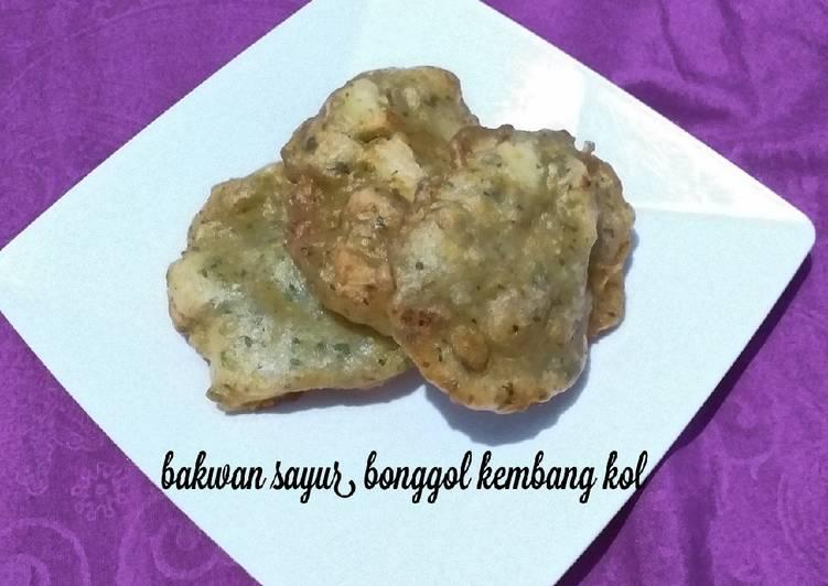 Resep Bakwan sayur bonggol bunga kol