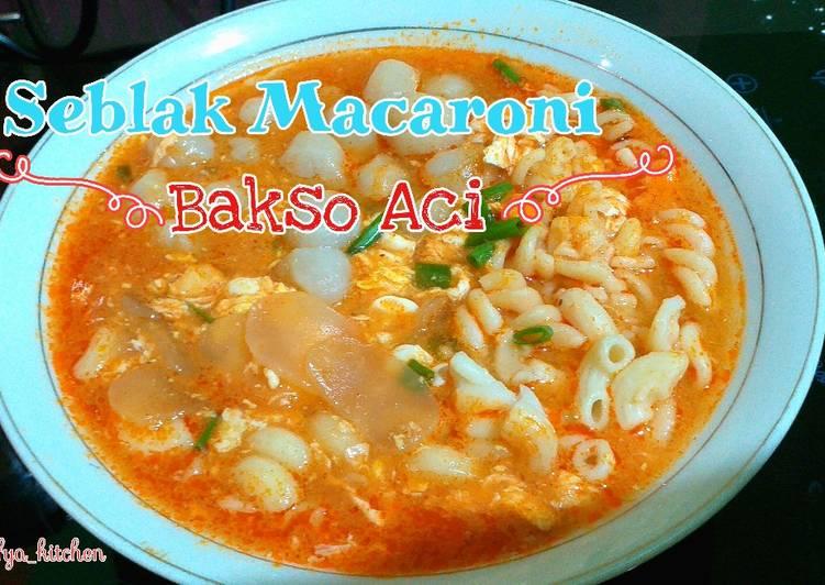 Resep Seblak Macaroni Baso Aci
