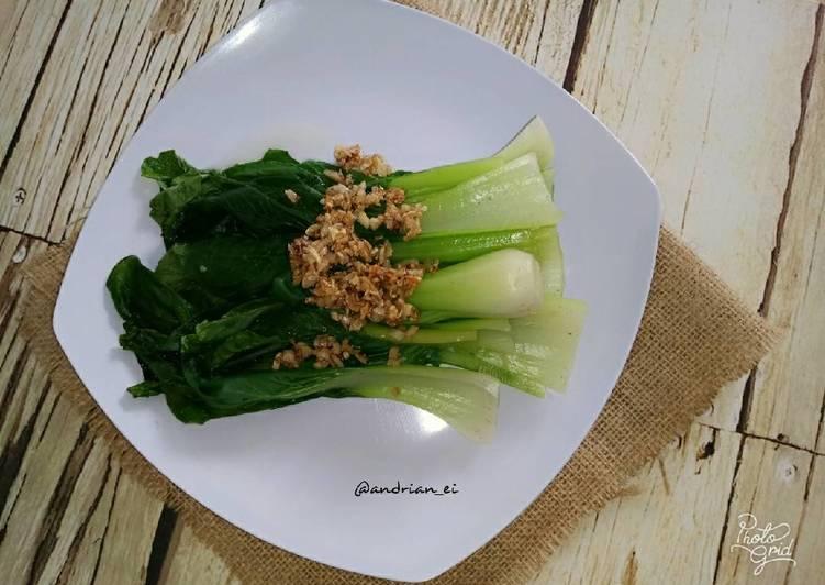 Resep Pokcoy Bawang Putih #bantumantenbaru