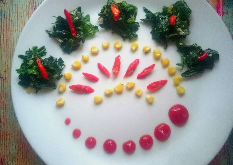 Resep Tumis Daun pepaya jepang jagung teri