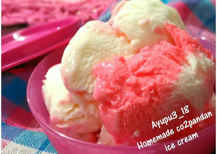 Resep Es Krim Cocopandan (Homemade Co2pandan Ice Cream)